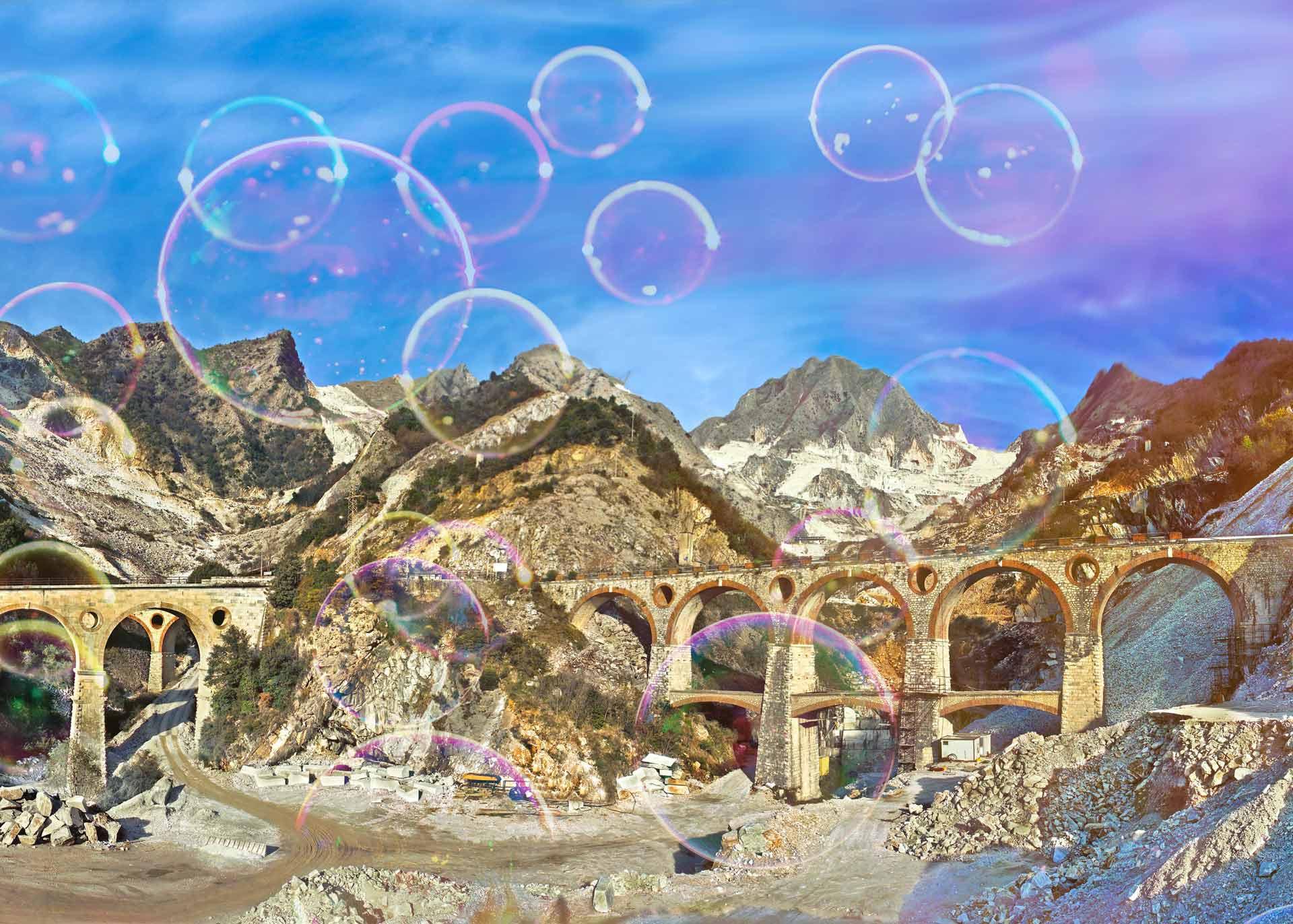 Carrara e bolle di sapone
